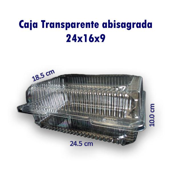Bandeja Transparente Abisagrada 24x16